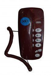 Telefon Cu Fir OHO 580 De Perete Sau Birou Functie Mute Pause Redial Flash Visiniu Telefoane