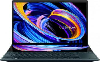 Ultrabook ASUS ZenBook Duo 14 UX482EA Intel Core (11th Gen) i5-1135G7 1TB SSD 8GB Intel Iris Xe FullHD Touch Win10 Pro T.il. Celestial Blue Laptop laptopuri