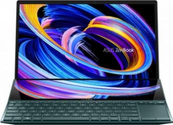 Ultrabook ASUS ZenBook Duo 14 UX482EA Intel Core (11th Gen) i5-1135G7 512GB SSD 8GB Iris Xe FullHD Touch Win10 Pro Tast. il. Celestial Blue