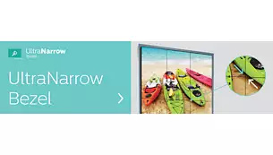 Ultra-narrow (3.5mm) bezels. For distraction-free images