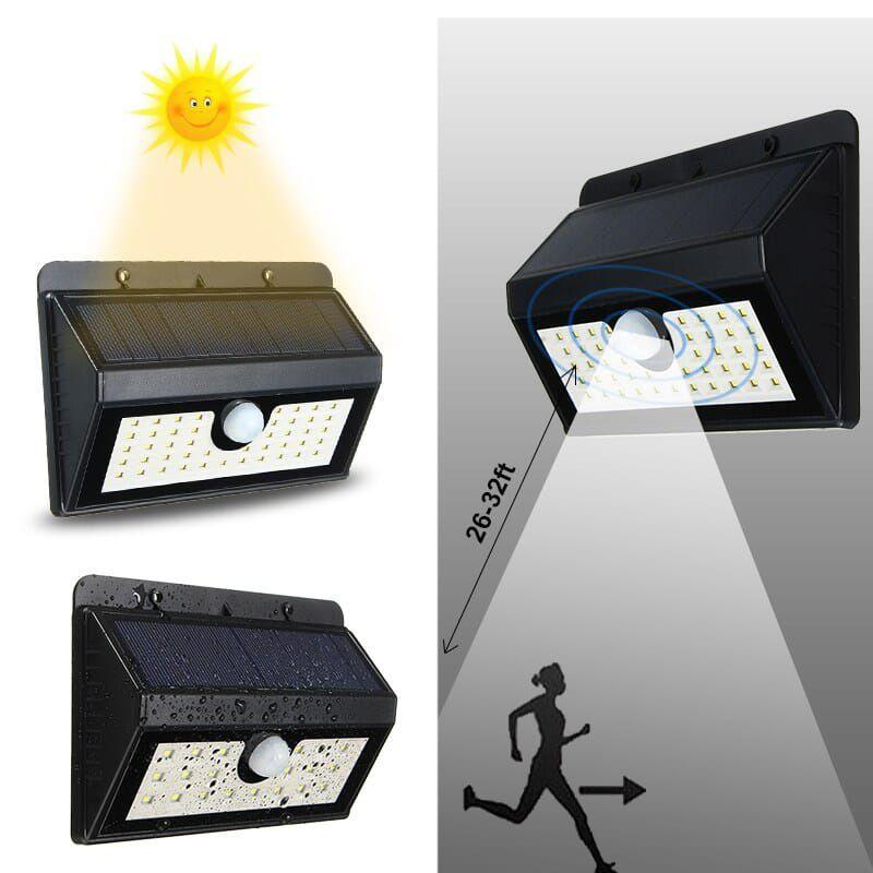Huerler 45 LED-uri 400 lumeni senzor de miscare si lumina 2200mAh negru   Lampa  solara d0pngjbbm