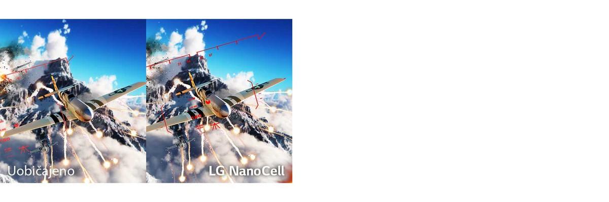 Scena borilačke videoigre sa zrakoplovom