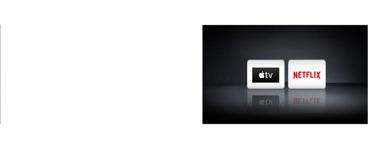 Kétlogó: Apple TV alkalmazás es a Netflix