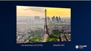 Televizor Phillips 4K UHD. Imagine HDR vibrantă.