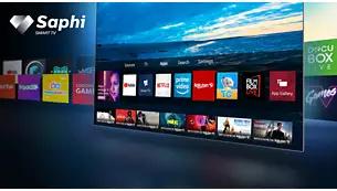 Acces printr-un singur buton la aplicaţii, inclusiv Netflix şi Prime Video.