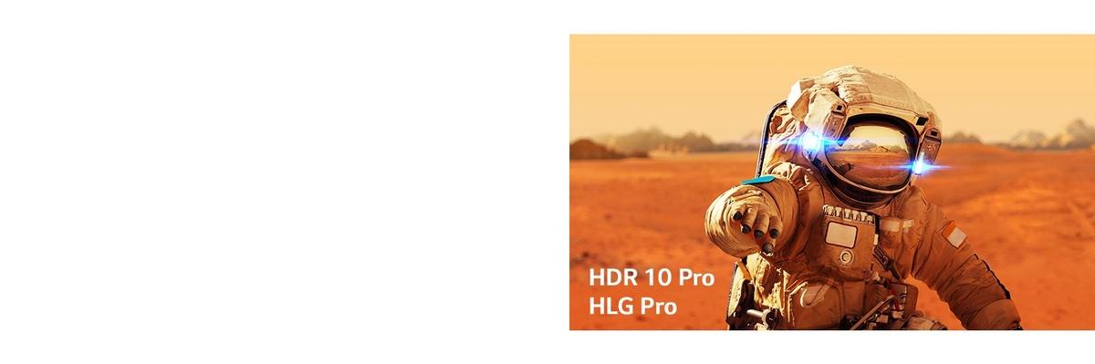 Inserturi cu Iron Man de la Marvel cu siglele HLG pro si HDR 10 Pro