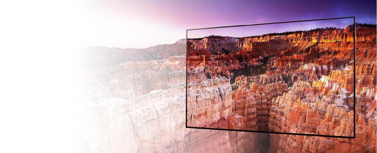 Un cadru cu un peisaj din Parcul National Bryce Canyon